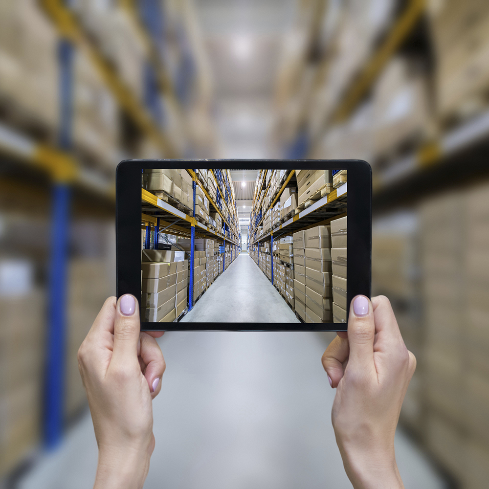 Warehouse Management System seen through an ipad.