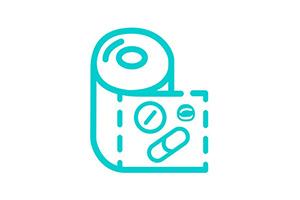 Icon illustration pharma suite dose