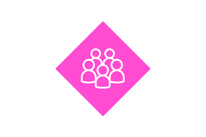 Customer loyalty icon group of people